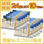 ショッピング沖縄 雪塩ちんすこう ミルク風味 24個入×10箱セット