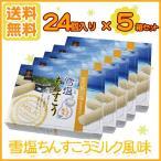 ショッピング沖縄 雪塩ちんすこう ミルク風味24個入り×5箱セット(送料無料)