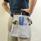 腰袋 釘袋 工具袋 道具入れ 富士グローブ グレー 送料無料(メール便ポスト投函)代引不可