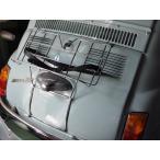 FIAT500 リアキャリアA (メッキ・黒ベルト)