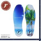 ショッピングメール便 メール便 FP インソール フットプリント ビーチ BEACH 7mm FOOTPRINT INSOLES 衝撃吸収 スケートボード 中敷き