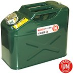 ガレージ・ゼロ ガソリン携行缶 10L 緑 縦型 GZKK38[UN規格・消防法適合品]/ガソリンタンク/亜鉛メッキ鋼板