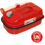 (数量限定セール)ガレージ・ゼロ ガソリン携行缶 横型 赤 10L GZKK02[消防法適合品]/亜鉛メッキ鋼板