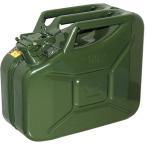 ガレージ・ゼロ ガソリン携行缶 ジェリ缶タイプ 10L GZKK66 [緑/UN規格/消防法適合品/スチール]