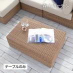 テーブル 机 屋外 家具 ファニチャー 机 ラタン おしゃれ シンプル ガーデン タカショー / ベベック ローテーブル /B