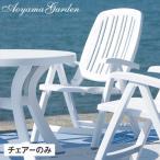 ガーデンチェア イタリア製/ Nardi サリナチェアー クッション付 NAR-290WPVN /折りたたみ/プラスチック/椅子