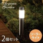ソーラーライト LED/センサーポールライト Lサイズ 2本組 単三型充電池2本付 LGS-71/MH3/屋外/ガーデンライト/防犯