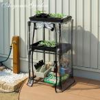ビニール温室 小型/ ワーキングシェルフ S GRH-14S /ビニールハウス/育苗/寒冷/霜/対策/家庭菜園