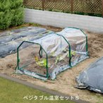 ビニール温室 野菜/ ベジタブル温室セットS GRH-13S /ビニールハウス/育苗/寒冷/霜/対策/家庭菜園