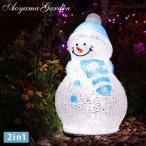 Yahoo!青山ガーデンイルミネーション 屋外 雪だるま LED ライト クリスマス かわいい デコレーション タカショー / 3Dクリスタルモチーフ スノーマン S /A