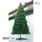 ショッピングクリスマスツリー クリスマスツリー 業務用/大型 クリスマスツリー スタンドタイプ 5m グリーン