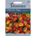 【輸入種子】Johnsons Seeds Californian Poppy Strawberry Fields カリフォルニアポピー(エスコルシア) ストロベリー・フィールズ ジョンソンズシード