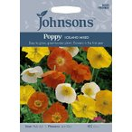 【輸入種子】Johnsons Seeds Poppy Iceland Mixed ジョンソンズシード ポピー・アイスランド・ミックス