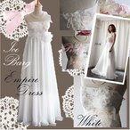 ウエディングドレス 二次会 花嫁 ドレス エンパイアライン ウェディングドレスエンパイア