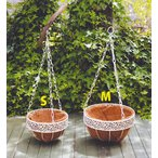 Yahoo!ガーデンスタイルYahoo!店5%OFF【2017新商品】 ホワイトハンギング吊下げ M 直径27*高さ60cm