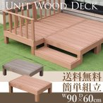 ガーデンデッキ 人工木 キット 樹脂 しあわせ家族のウッドデッキ スリム(90×60)