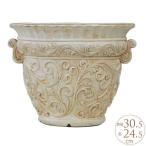 鉢 大きい アンティーク 植木鉢 花器 ローマ調大型プランターポット つた模様