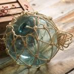アンティーク オブジェ 居酒屋 飾り 海の 雑貨 装飾 ガーデニング 置物 ガラス 浮き玉 津軽の浮き球 漁師編み 縄付き (大) 直径30cm