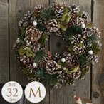 クリスマス リース 玄関 ナチュラル おしゃれ 飾り Xmas 壁掛け 北欧 クリスマスリース 人気のシンボルカラー M