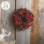 クリスマス リース ナチュラル 飾り インテリア 雑貨 おしゃれ 北欧 クリスマスリース 赤い喜び アップル S 直径24cm