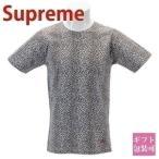 シュプリーム Tシャツ メンズ 半袖 レオパード ヒョウ柄 ロゴ Teeシャツ supreme × hanes leopard Tee