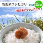 新潟県限定新潟米コシヒカリ白米15kg新潟産こしひかり新潟県の方は5%キャッシュバックキャンペーン