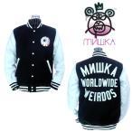 ショッピングスタジャン MISHKA  ミシカ Keep Watch Worldwide Varsity Jacket HO151304M Black スタジャン キープウォッチ