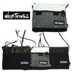 WILD THINGS  ワイルドシングス  WT-380-0072   SACOCHE CHOULDER  サコッシュショルダー   10 WHITE/15 CAMO/01BLACK