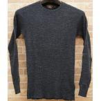 (ダブルアールエル) RRL ワッフルニット コットン Tシャツ サーマル メンズ Crewneck Tshirt Carbon Blue
