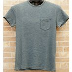 (ダブルアールエル) RRL スラブ ポケット Tシャツ XS M L ウォッシュ ド インディゴ Slub pocket t washed indigo