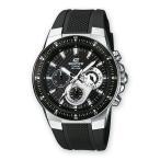 カシオ CASIO EDIFICE 100m防水 クロノグラフ クオーツ メンズ腕時計 アナログ E...