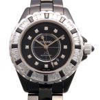 シャネル J12 H2022 ブラック文字盤 レディース 腕時計 新品