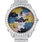 ジェイコブ ファイブタイムゾーン ワールドマップ ケース・ブレスダイヤ - 全面ダイヤ文字盤 メンズ 腕時計 中古