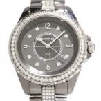 シャネル J12 H3105 グレー文字盤 レディース 腕時計 新品
