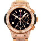 ウブロ ビックバン ピンクゴールド パヴェ 301.PX.130.PX.2704 ブラック文字盤 メンズ 腕時計 新品