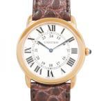 カルティエ ロンドソロ  W6701008 シルバー文字盤 メンズ 腕時計 新品