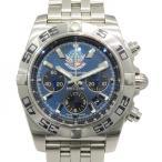 ブライトリング BREITLING クロノマット 44 ブルーインパルス 日本限定400本 AB0110 ブルー文字盤 メンズ 腕時計 中古
