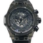 ウブロ HUBLOT ビッグ・バン ウニコ サファイア オールブラツク 世界限定500本 411.JB.4901.RT スケルトン文字盤 メンズ 腕時計 新品