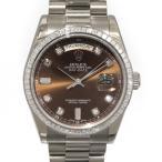 ロレックス デイデイト 118399A チョコレートブラウン文字盤 メンズ 腕時計 中古