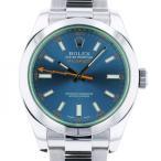 ロレックス ミルガウス 116400GV ブルー文字盤 メンズ 腕時計 中古