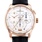 ジャガー・ルクルト デュオメトル クロノグラフ  Q6012420 ホワイト文字盤 メンズ 腕時計 中古