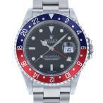 ロレックス GMTマスター 青赤ベゼル 16710 ブラック文字盤 メンズ 腕時計 中古