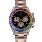 ロレックス デイトナ レインボー 116595RBOW ブラック/ピンク文字盤 メンズ 腕時計 新品