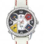 ジェイコブ ファイブタイムゾーン JC-4DAD ホワイト/ブラック文字盤 メンズ 腕時計 中古