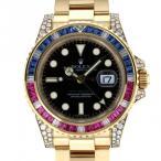ロレックス GMTマスター II 116758SARU ブラック文字盤 メンズ 腕時計 中古