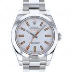 ロレックス ミルガウス 116400 ホワイト文字盤 メンズ 腕時計 中古