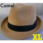 2サイズ 7色展開 帽子 ストローハット 中折れハット 定番スタイル サイズ調整 BIGサイズあり(店内商品2点以上ご購入で送料無料)