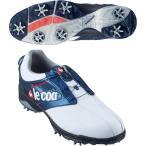 ルコックゴルフ Le coq sportif GOLF ゴルフシューズ 24.5cm ホワイト ネイビー