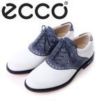 【送料無料】【2016年モデル】ECCO エコー MENS TOUR HYBRID【141614-59385】 (WHITE/MARINE) メンズ ゴルフシューズ
