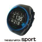 【送料無料】【最新GPSナビ】GreenOn グリーンオン ザ・ゴルフウォッチ スポルト 腕時計型 GPS キャディ ブラック×メタルブルー GO83
